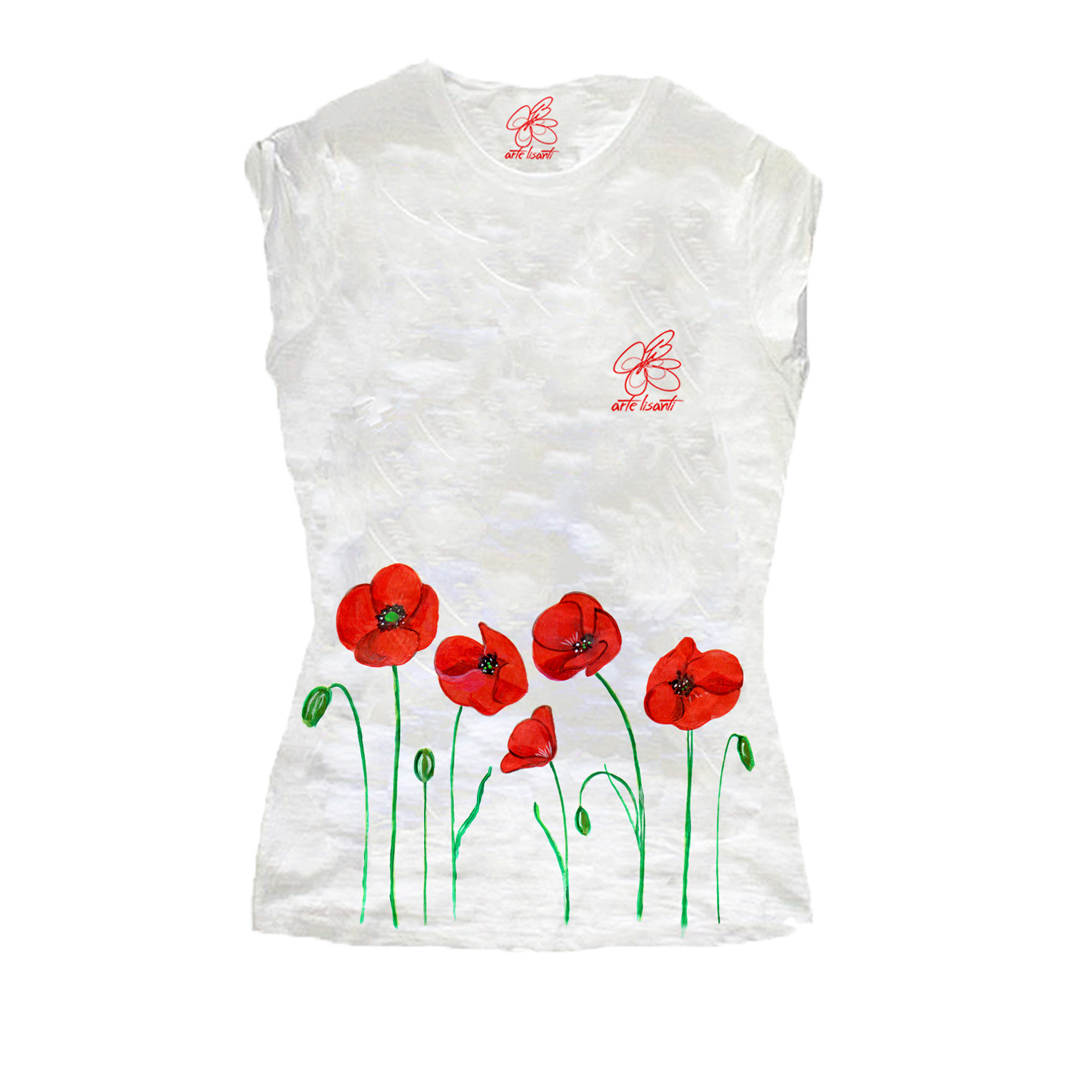 Hand-painted T-shirts - Poppies