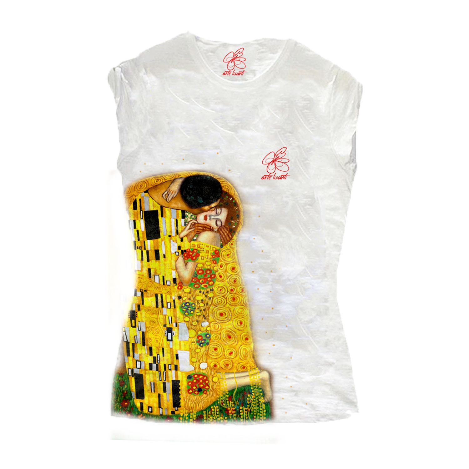 Hand-painted T-shirts - The Kiss by Klimt