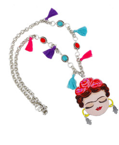 Collana dipinta a mano – I Love Frida Kahlo