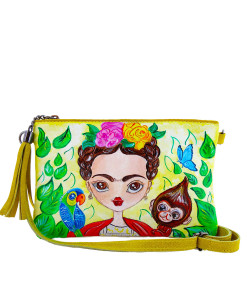 Hand-painted bag - W la vida ... W Frida
