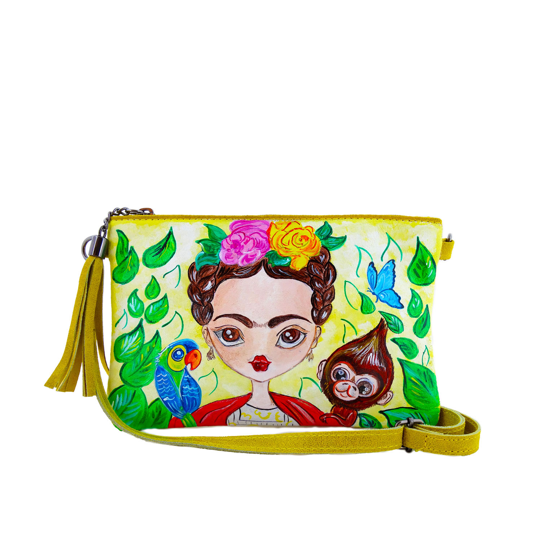 Borsa dipinta a mano - W la vida... W Frida