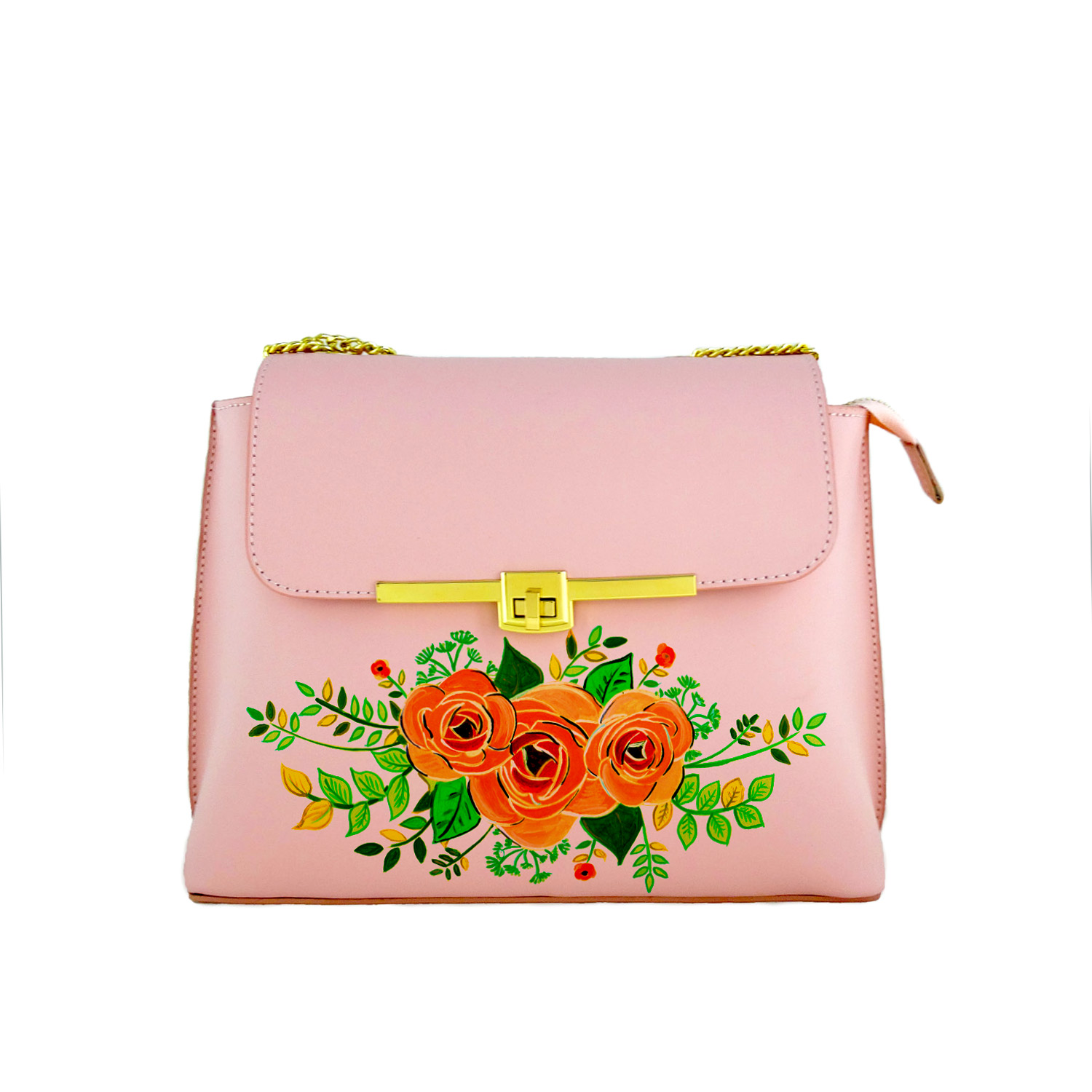 Handpainted bag - Le chic rose