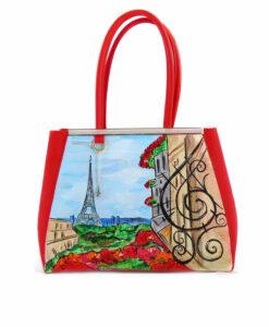 Borsa dipinta a mano – Paris Paris