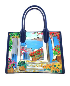Hand painted bag - Greece