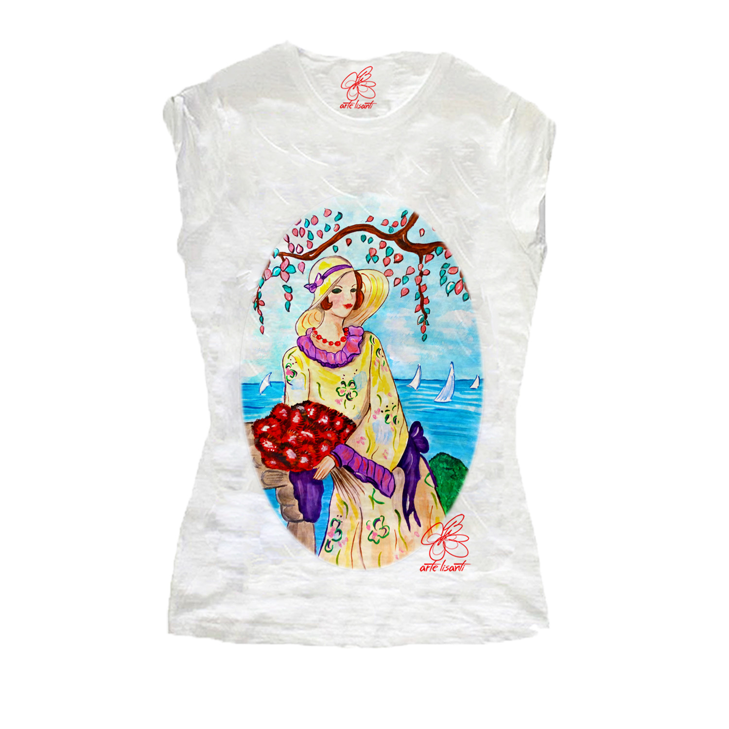 Hand-painted T-shirts - At the sea