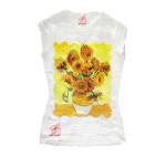 T-shirt dipinta a mano - I girasoli di Van Gogh