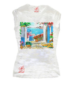 T-shirt dipinta a mano – Greece