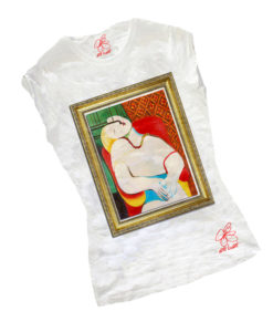 Hand-painted T-shirts - Dream by Picasso