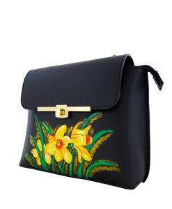 Hand painted bag - Le chic narcisse