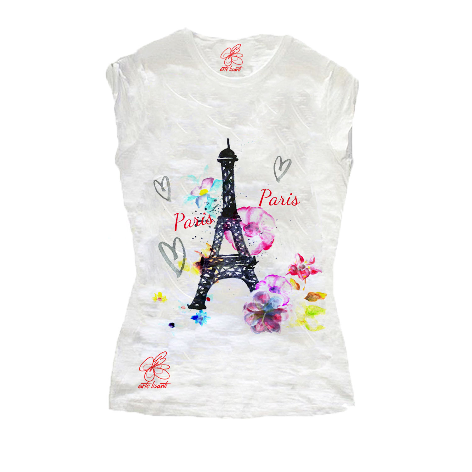 Hand-painted T-shirts - Paris Paris