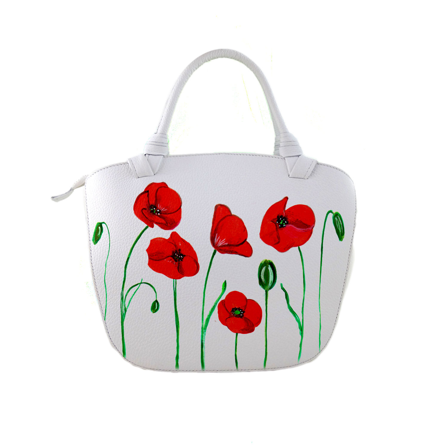 Hand painted bag - Poppies