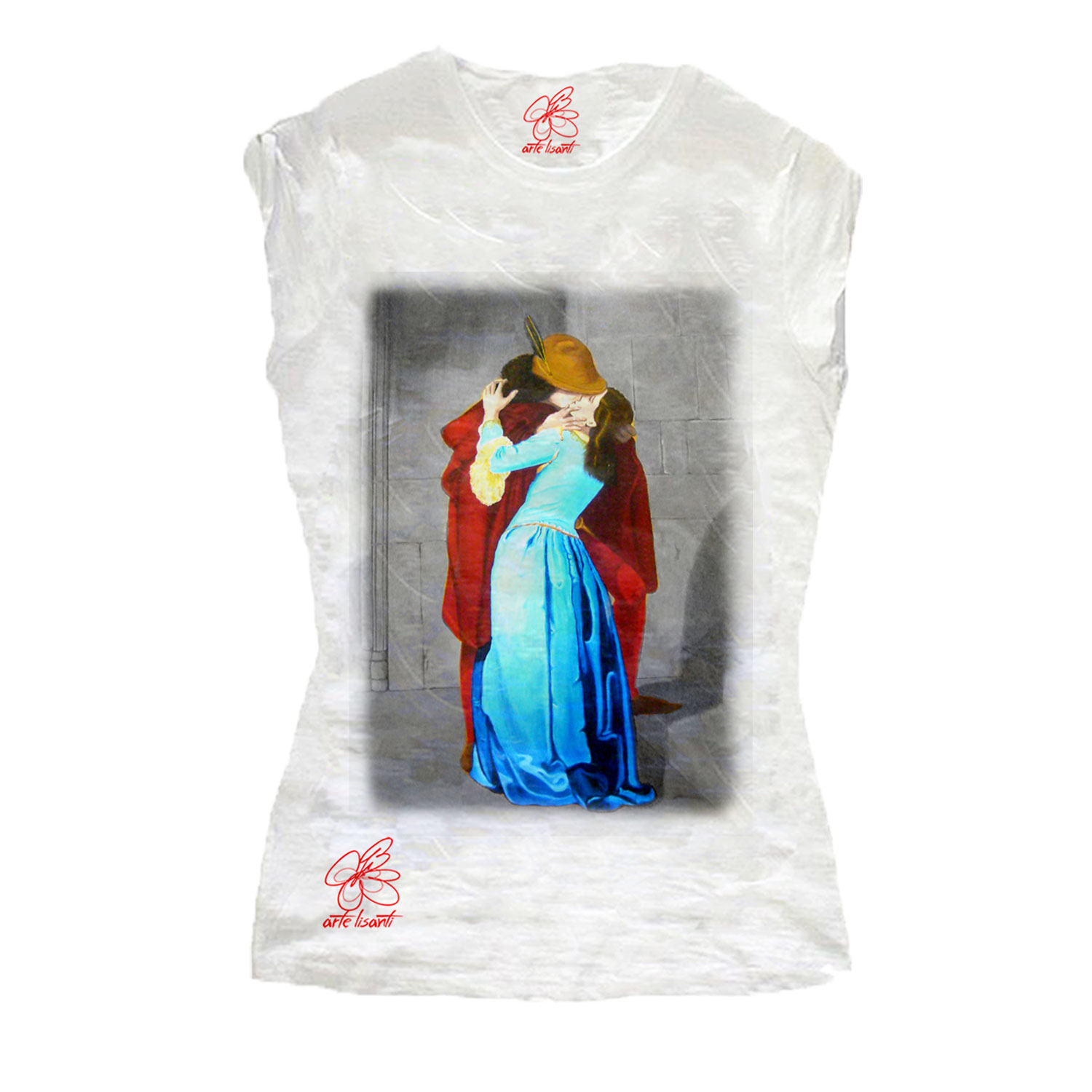 Hand-painted T-shirts - The Kiss by Hayez