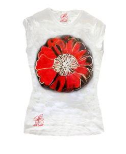 Hand-painted T-shirts - Flowers by Warhol