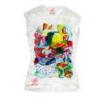 T-shirt dipinta a mano - Interno con ragazza che legge di Matisse