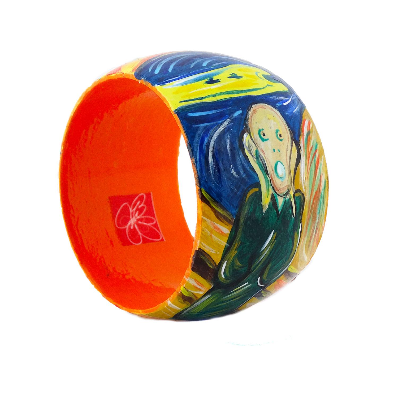Bracciale dipinto a mano – L'urlo di Munch