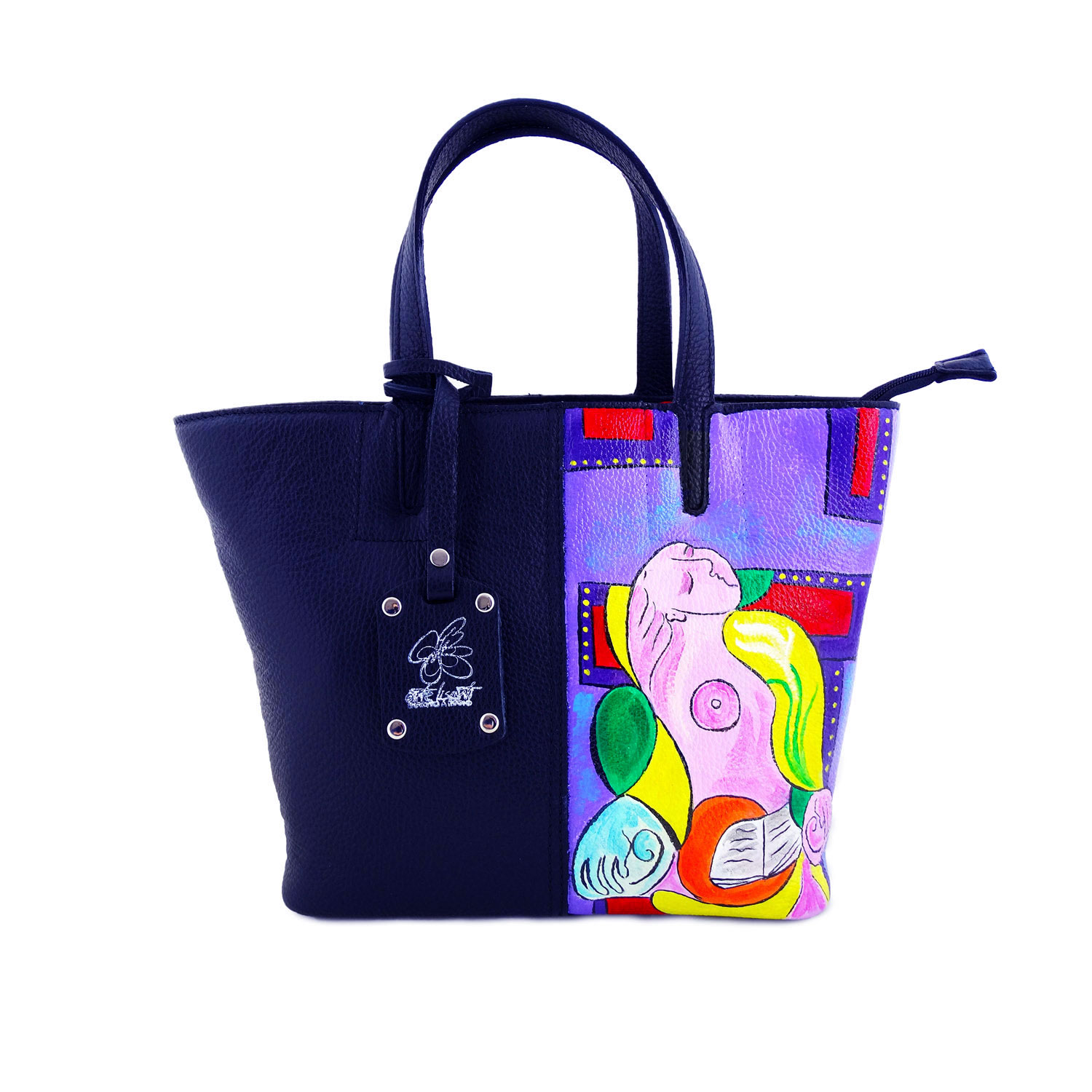 Hand painted bag - Reading Marie Therese by Picasso