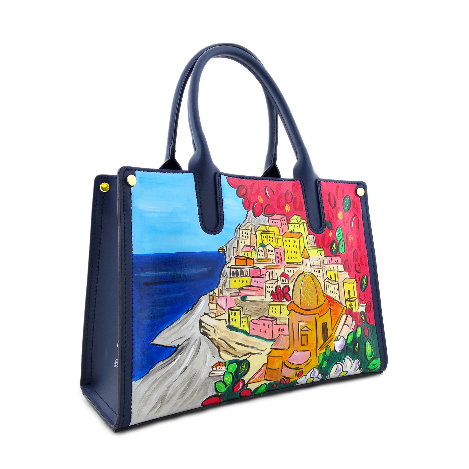 Hand painted bag - Positano
