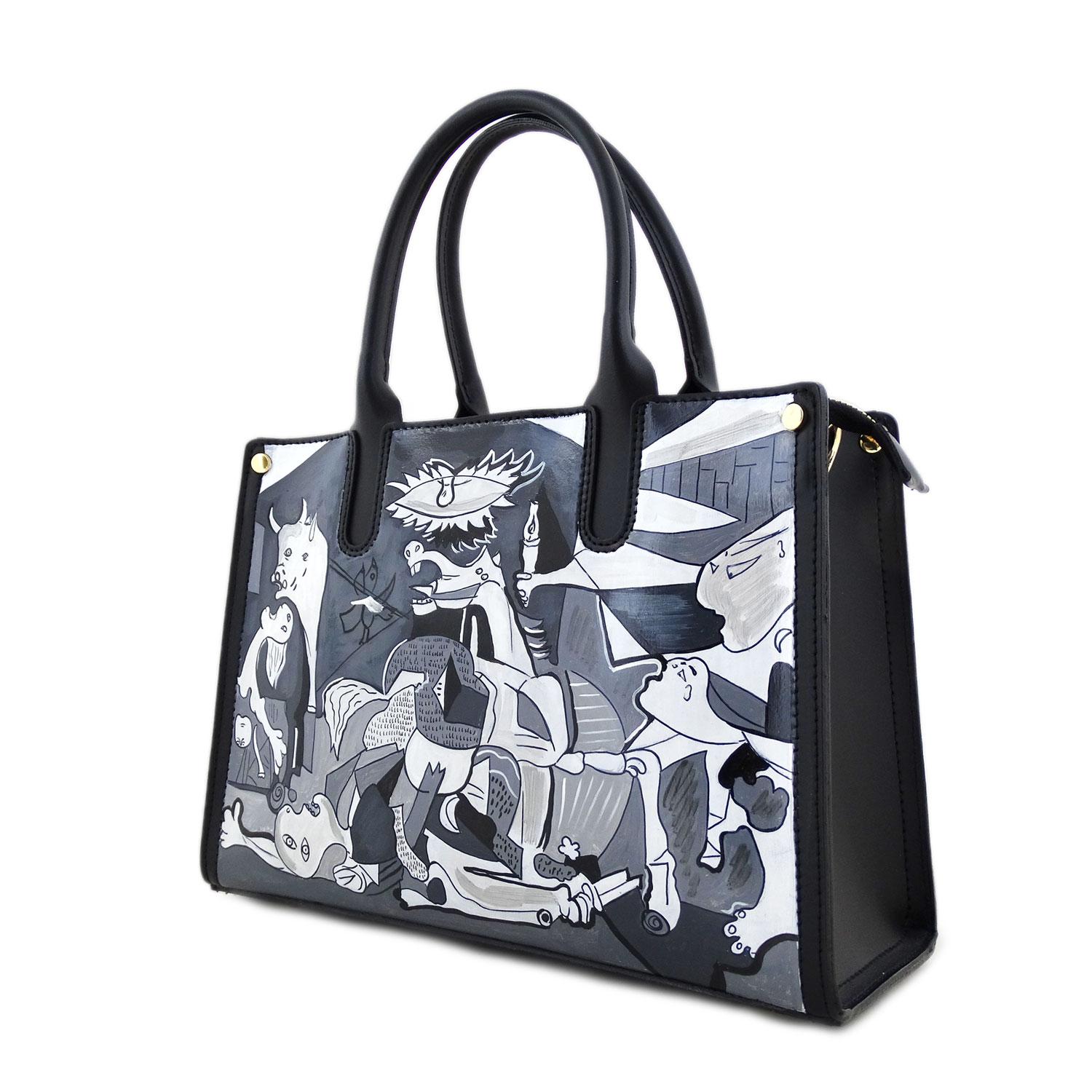 Borsa dipinta a mano - Guernica di Picasso