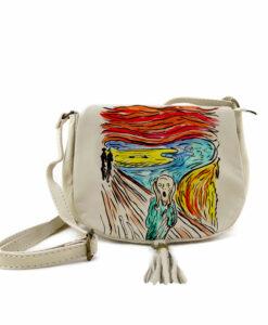 Borsa dipinta a mano –L'urlo di Munch cartoon color