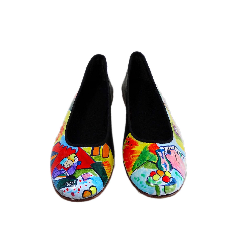 Ballerine dipinte a mano – Interno con ragazza che legge di Matisse