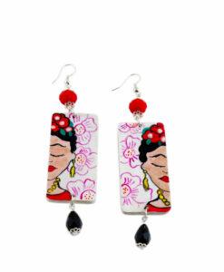 Orecchini dipinti a mano – I Love Frida Kahlo