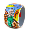 Bracciale dipinto a mano – L'urlo di Munch cartoon color