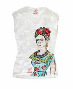 T-shirt dipinta a mano – Passione per Frida color