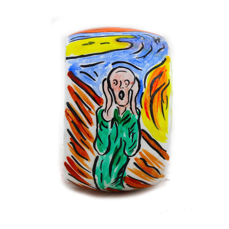 Bracciale dipinto a mano – L'urlo di Munch cartoon color