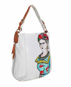 Borsa dipinta a mano – Passione per Frida color