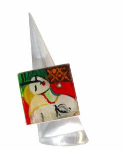 Anello dipinto a mano – Il sogno di Picasso