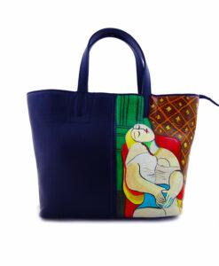 Borsa dipinta a mano – Il sogno di Picasso