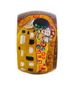 Bracciale dipinto a mano – Il bacio di Klimt