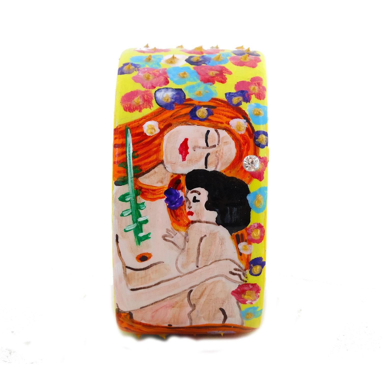 Bracciale dipinto a mano – Madre e figlio di Klimt