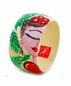 Bracciale dipinto a mano – I Love Frida Kahlo