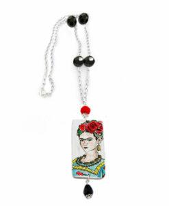 Collana dipinta a mano – Passione per Frida color