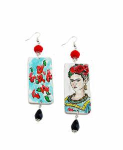 Orecchini dipinti a mano – Passione per Frida color