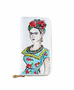 Portafoglio dipinto a mano – Passione per Frida color