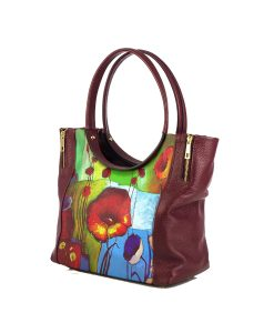 Hand-painted bag - Garden dream
