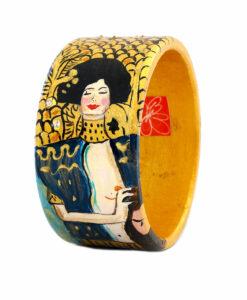 Bracciale dipinto a mano – Giuditta di Klimt