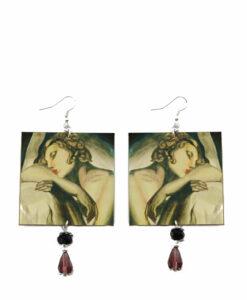 Orecchini dipinti a mano – La dormiente di De Lempicka