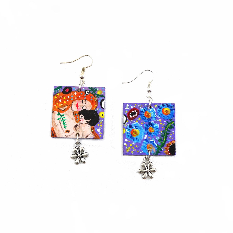 Orecchini – Madre e figlio di Klimt