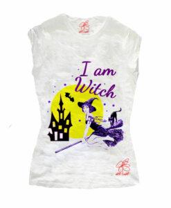 T-shirt dipinta a mano - I am witch