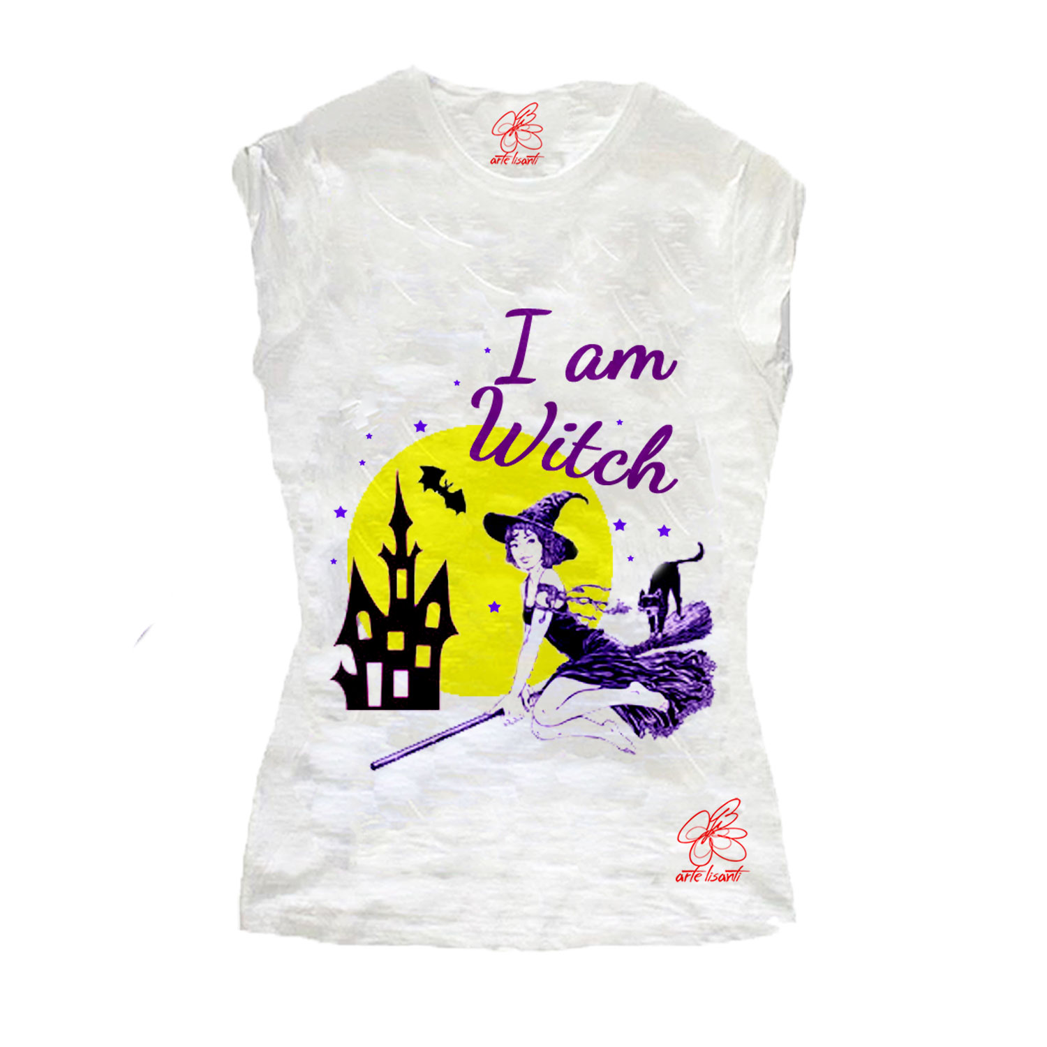 T-shirt dipinta a mano - I am witch