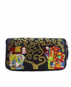 Portafoglio dipinto a mano - L'Albero della vita di Klimt