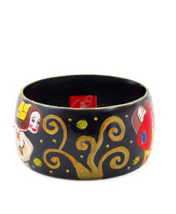 Hand-painted bangle - The Tree of Life by Klimt