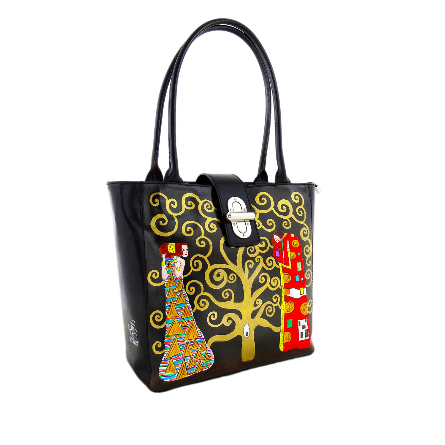 Handpainted bag - The Tree of Life by Klimt