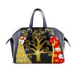 Borsa dipinta a mano - L'albero della vita di Klimt