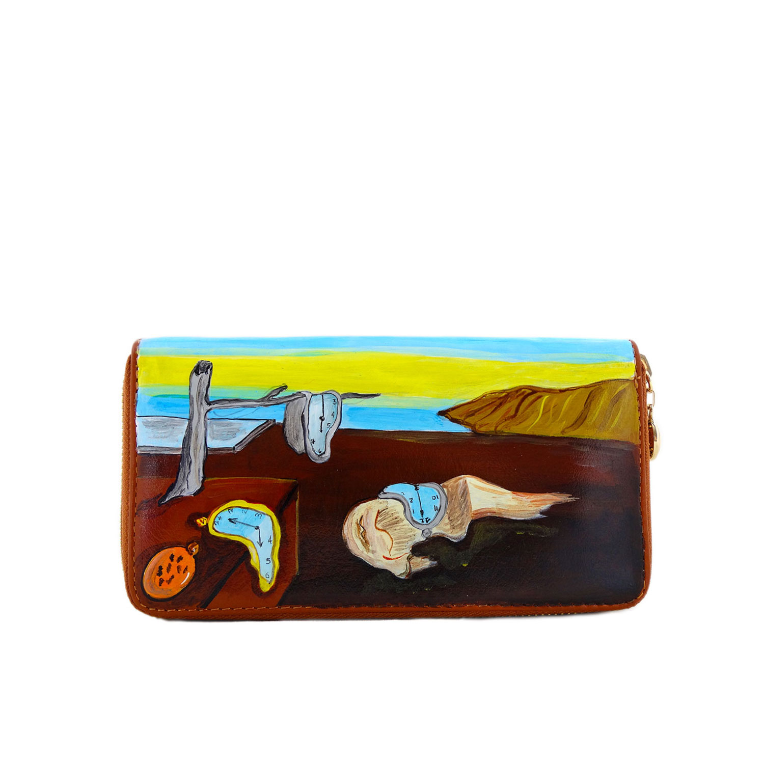 Hand painted wallet - The Persistence of Memory by Dali