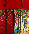 Borsa dipinta a mano – Omaggio agli innamorati di Leonid Afremov