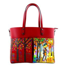 Hand painted bag - Tribute to lovers of Leonid Afremov